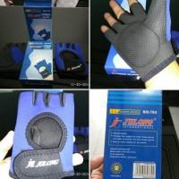 Jual Fitness Gloves Sarung Tangan Gym motor half finger palm support Murah