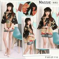 MASSIE -Atasan Batik/Blouse Batik Modern Wanita Cheongsam JUMBO XXL HQ