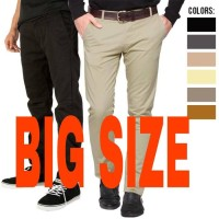 Jual celana chino pria big size 35-42 Murah