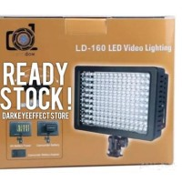 Jual CANON, NIKON, SONY HD-160 LED Video Lighting-lampu studio foto murah Murah