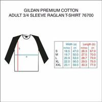 Jual Baju Kaos Gildan Premium 76700 Raglan 3/4 - Kaos Polos Raglan Unisex Murah