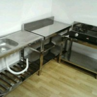 Kitchen Set ( 1 meja kerja, 1 meja kompor, 1 kitchen sink)