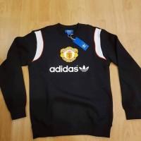 adidas original manchester united repro black sweatshirt BNWT