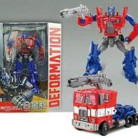 Mainan Robot Transformer Transformers 4 Optimus Prime Red