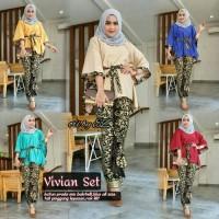 Batik Kebaya Wanita Seragam Pesta Hijab Baju Muslim Gamis Modern Jumbo
