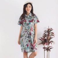 harga Dress Midi Atasan Wanita Corak Bunga Model Korea Tokopedia.com