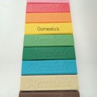 Mercolade Rainbow Compound Eceran - Coklat Batangan Aneka Warna & Rasa