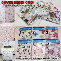 HSI Sarung Cover Penutup Mesin Cuci Tipe A Buka Atas Motif Bunga