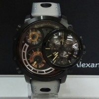 jam tangan alexandre christie ac 9221 limited edition black