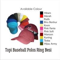 Topi Baseball polos belakang besi