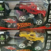 jual ... RC Mobil bigfoot storm warna merah / kuning skala 1:24 | Main