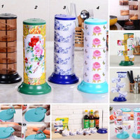 Jual Tempat Bumbu Spice Rak 5 in 1 Set susun tingkat putar kitchen rack NEW Murah