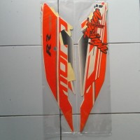 Stiker Striping Motor Kawasaki Ninja RR 250 Mono 2016 Orange