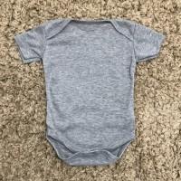 Miabelle Bodysuit / Jumper Lengan Pendek - Misty Grey
