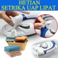HETIAN Setrika Seterika Uap Lipat/Iron Travel Portable 2 IN 1 Steamer