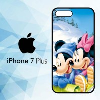 Casing HP iPhone 7 Plus Mickey Mouse And Minnie Mouse X4965