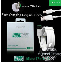 KABEL DATA OPPO VOOC FAST CHARGING ORIGINAL 100% MICRO 7PIN USB CABLE