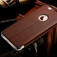 Leather Flip Cover KXX Alumunium Bumper iPhone 6 / 6s case