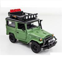 Miniatur Mobil Land Cruiser Green Motor Max- Off Road toyota klasik