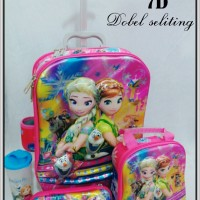 harga Tas Sekolah Trolley Troli Trolli Frozen Elsa Biru Blue 2in1 3 Dimensi Tokopedia.com