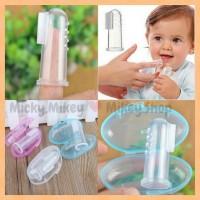 Jual Sikat Gigi/Lidah Silicone Jari Bayi +Box / Finger Tooth Brush Murah