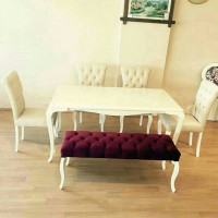 kursi makan white duco , kursi makan minimalis ,meja makan white duco