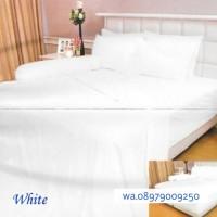 GROSIR BEDCOVER SET INTERNAL VALERIE QUINCY WHITE 160X200X30