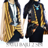 Jual Tunik vest Cardigan Batik atasan bolero A332 Murah