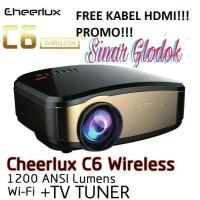 NEW PROJEKTOR PORTABLE CHERLUX C6,WIFI + TV TUNER