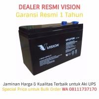 Aki UPS VISION 12V - 7AH (Garansi Resmi). Battery UPS / Baterai UPS