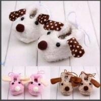 PW80 - prewalker boneka bulu Doggy baby newborn 0-6 month shoes sepatu