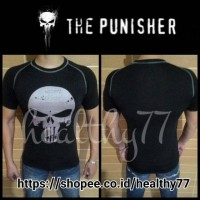Kaos Ketat Under Armour - The Punisher Black&White
