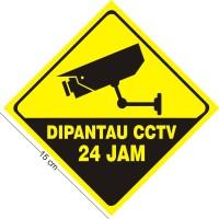 STIKER DIPANTAU CCTV 15 x 15 cm