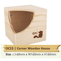OC23 Forest Playground - Corner Wooden House Rumah Chinchilla Tupai