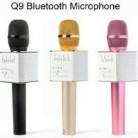 Jual Mic Wireless Bluetooth Karaoke Q9 Player Speaker KTV USB Good QUality Murah