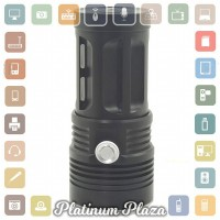 Lampu Senter Waterproof LED XM-L T6 4000 Lumens - Black`90TNY7-