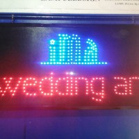 Tulisan Lampu Led Sign display IMA WEDDING ART - LIKE RUNNING TEXT