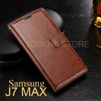 Wallet Case Samsung J7 Max Flip Case Premium Leather Card Slot