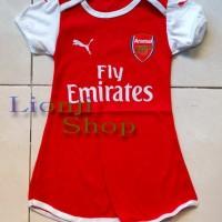 Jual Baby Dress / Baju Bola Bayi Perempuan Arsenal Home Murah