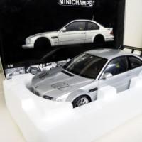 1:18 Minichamps BMW M3 GTR E46 silver grey NEW SHIPPING FREE