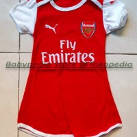 Jual Dress Bola Bayi Baju Bayi Perempuan Arsenal - Home Murah