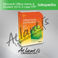 Microsoft Office Home and Student 2010 FPP 3 User Original