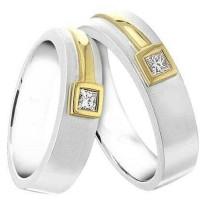 cincin perak couple lapis emas sepasang tunangan nikah CP211