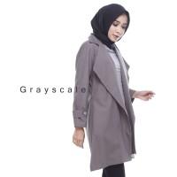 Jaket Wanita Muslimah Victoria Coat Abu Terbaru