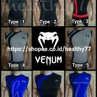 Kaos Ketat Fitness Gym Sports Pria TankTop Venum Body combat