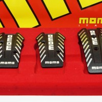 MOMO GOTHAM Pedal Set M/T Non Slip Universal Black/Silver
