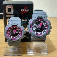 Best Seller Jam Tangan Couple / Pasangan Romantis GA-110 Grey Pink