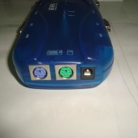 Auto Kvm Switch 4 Port Vga Female Dan 4 Port Ps2 (Mouse + Keyboard)