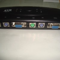 Manual Kvm Switch 4 Port Vga Female Dan 4 Port Ps2 (Mouse + Keyboard)
