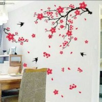 Jual wall sticker chinese flower uk.60x90cm Murah